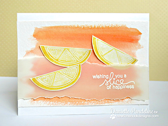 Fruit Watercolor card by Danielle Pandeline | Sweet Summer Stamp Set | Newton's Nook Designs