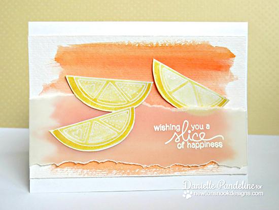 Fruit Watercolor card by Danielle Pandeline | Sweet Summer Stamp Set | Newton's Nook Designs