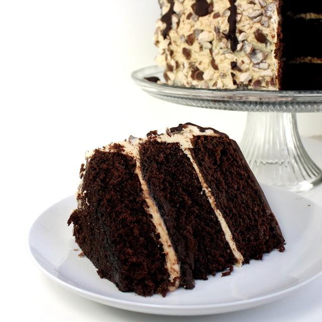 Triple Malt Chocolate Cake - thestayathomechef.com