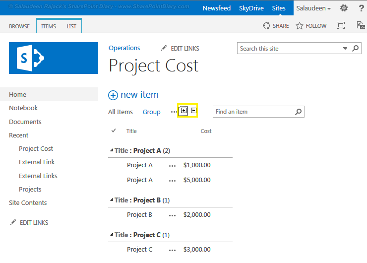 Expand Collapse All Groups In Sharepoint 2013 List Views
