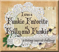 WINNER: Guest Designer at the Frilly&Funkie Challenge Blog March 2018