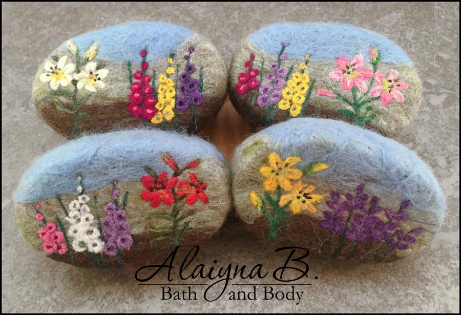 alaiyna b bath and body new felted soaps. Black Bedroom Furniture Sets. Home Design Ideas