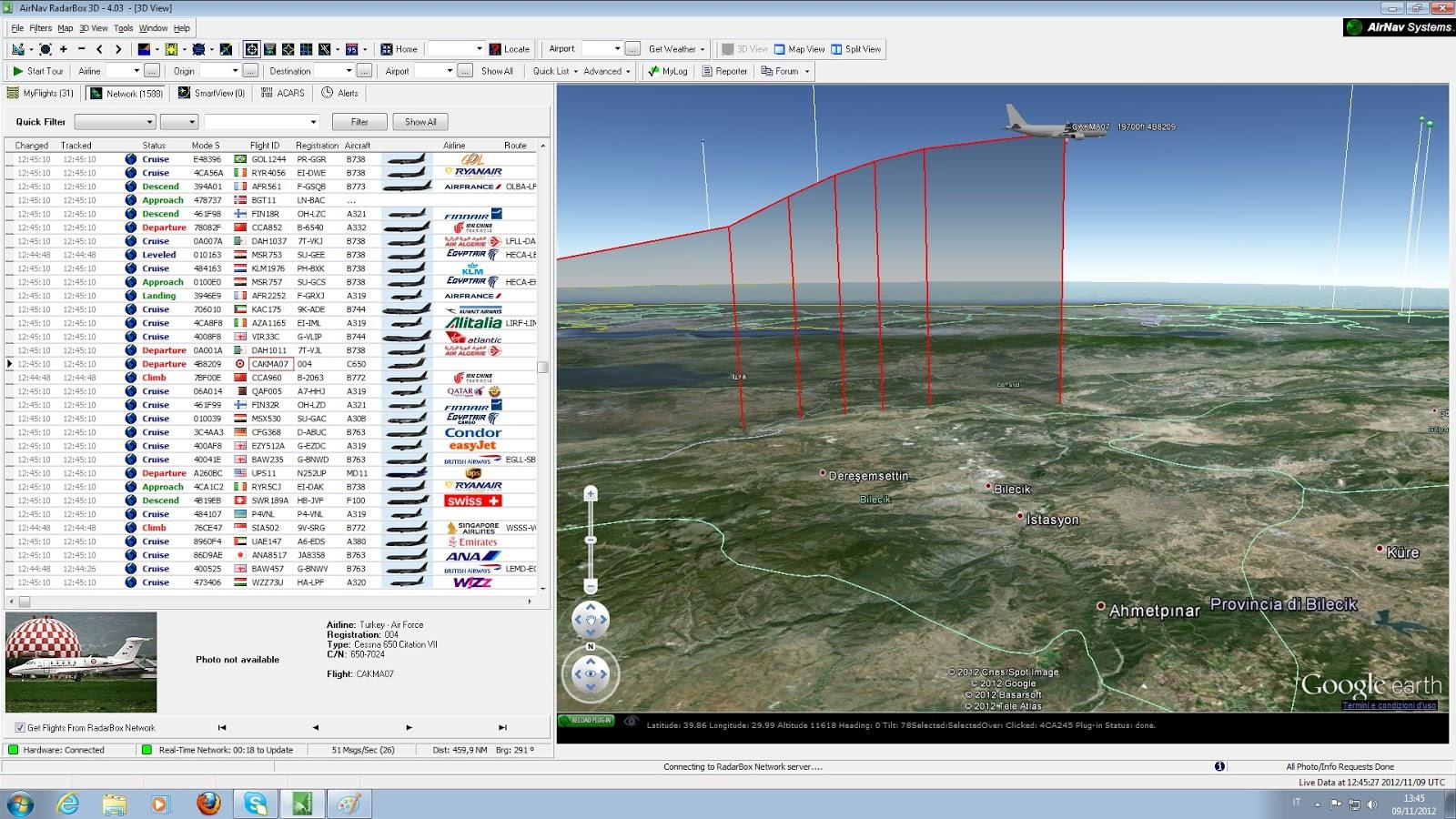 airnav rbx 3d live world edition 1030 1090ghz twin collinear antenna home made