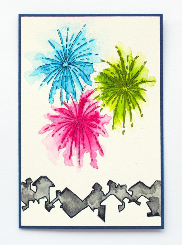 Elina S Arts And Crafts Cas Ology 51 Ilotulitus Fireworks
