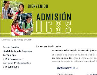 Ingresantes exámen Universidad Católica Sedes Sapientiae 2014 I resultados domingo 2 de Marzo