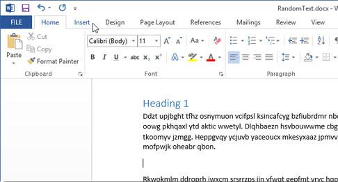 Cách sử dụng biểu tượng trong Microsoft Word 2013 2