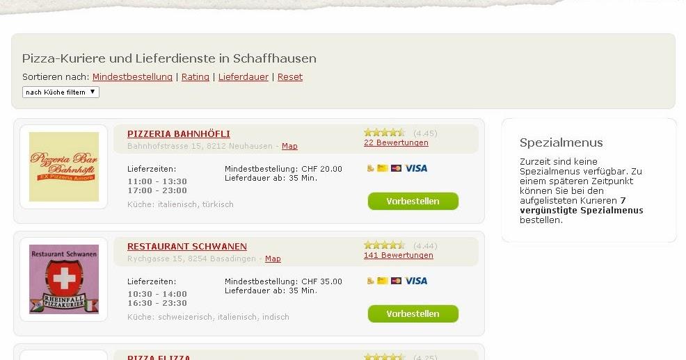 schaffhausen essen online bestellen in schaffhausen. Black Bedroom Furniture Sets. Home Design Ideas