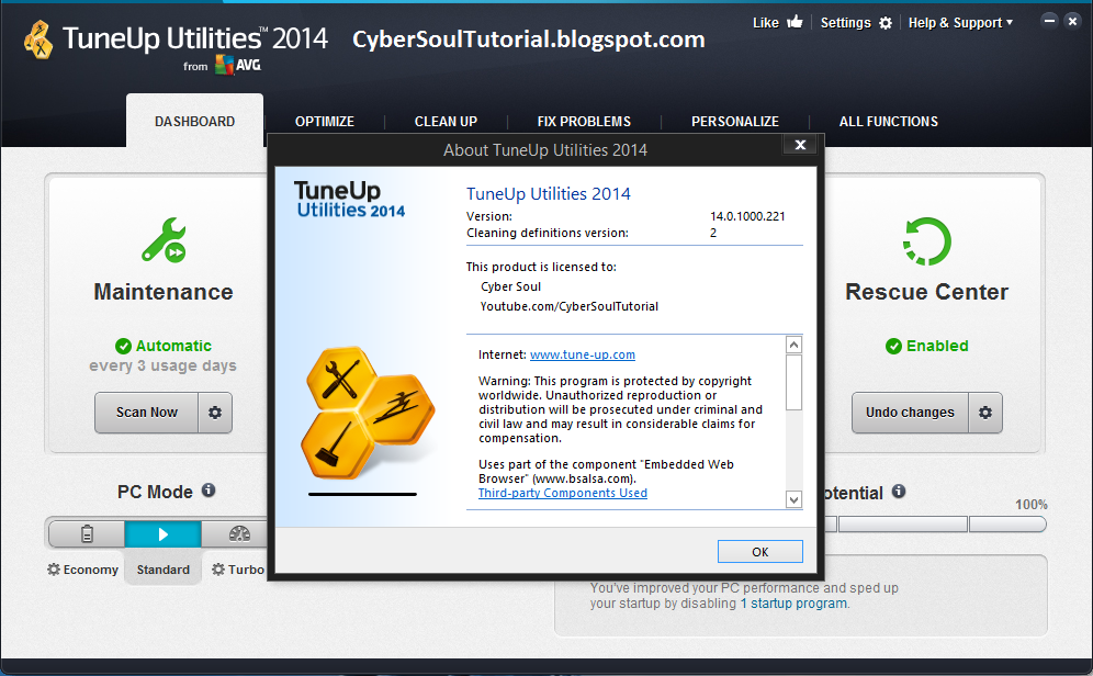 TuneUp Utilities 2014 full cracked serial key patch free