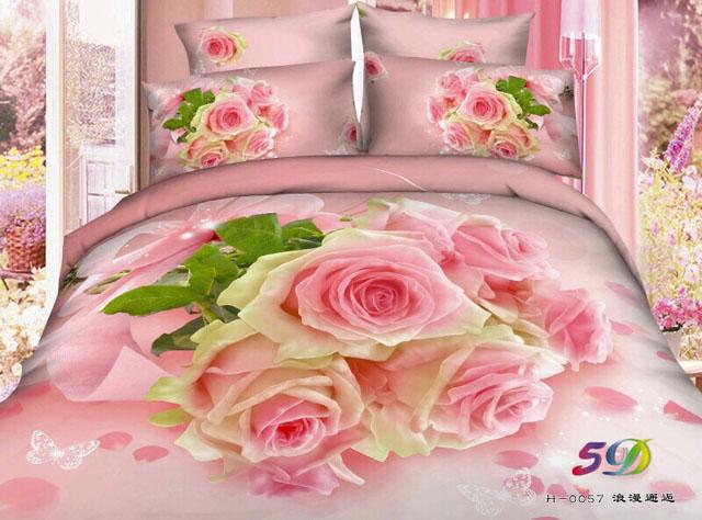 Sprei Jepang Panel Bunga Rosana Pink
