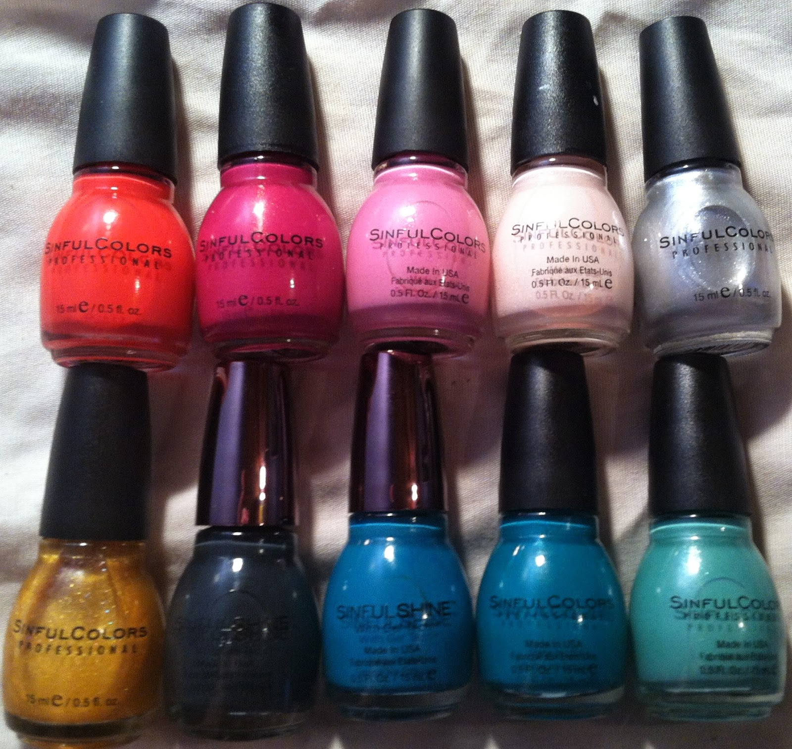 My Top 10 Sinful Colors Nail Polishes