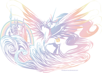 This logo image features Princess Celestia for Equestria Chronicles
