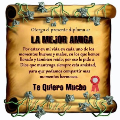 Gracias amiga M del Carmen
