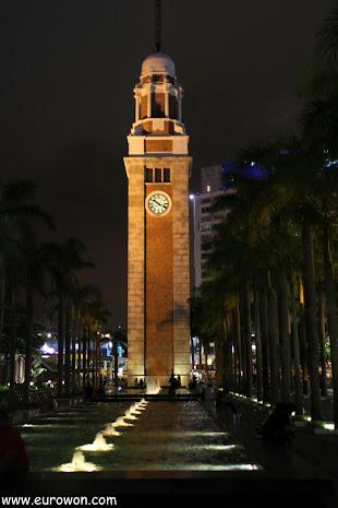 Torre del Reloj de Hong Kong de noche
