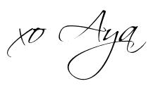 fashion blogger signature