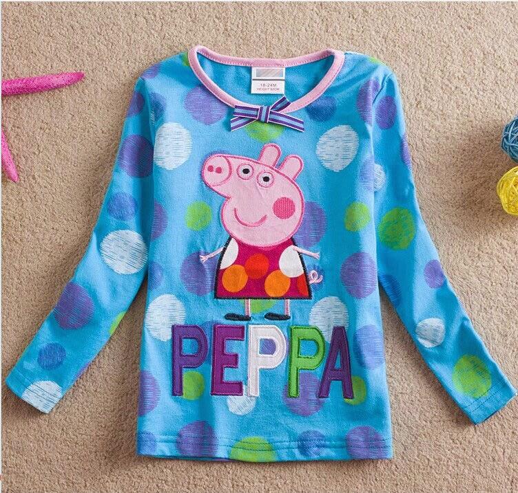 Poleras con Diseño de Peppa Pig, Niñas