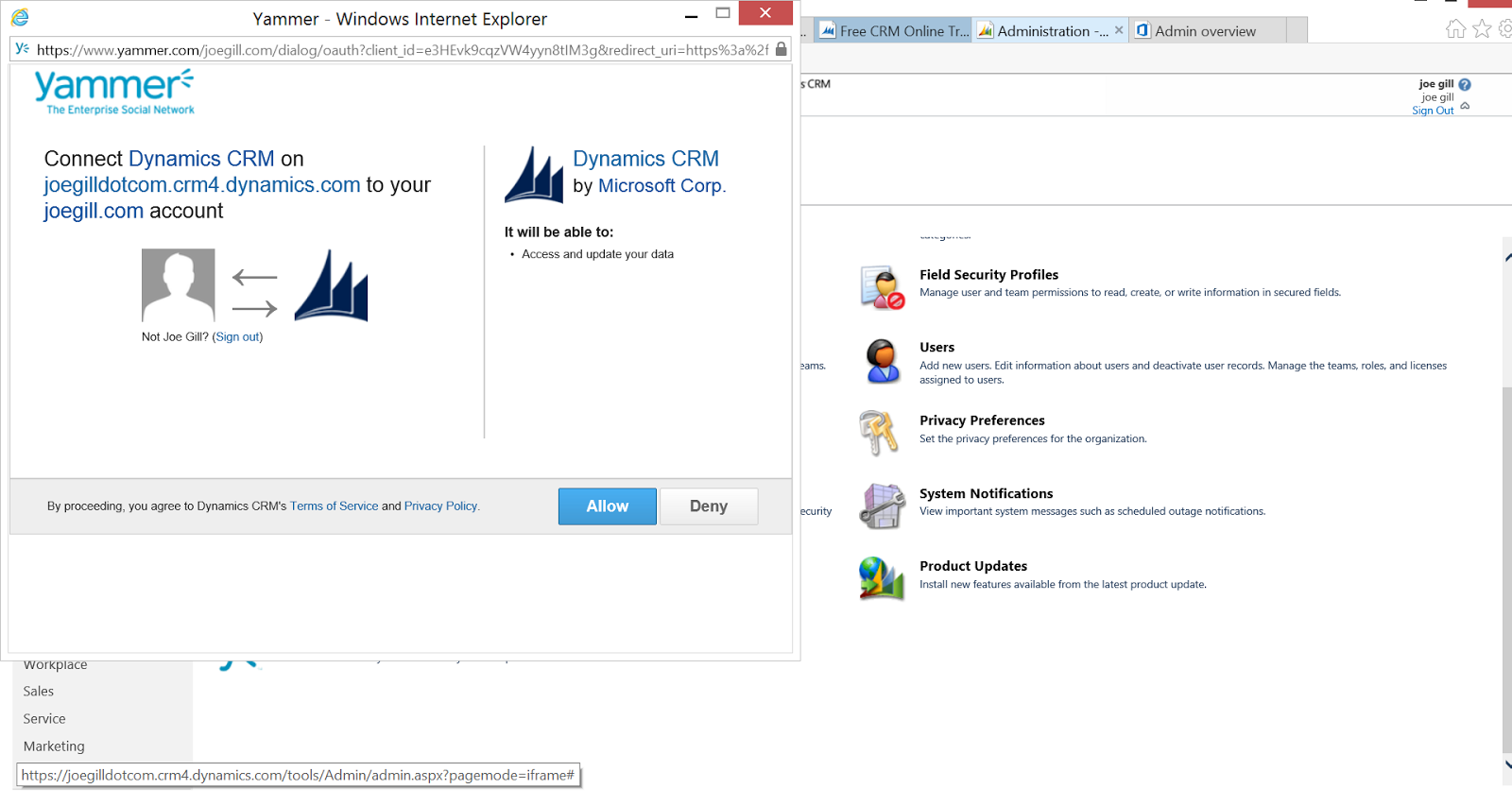 Yammer integration with dynamics crm joe gill - Yammer office 365 integration ...