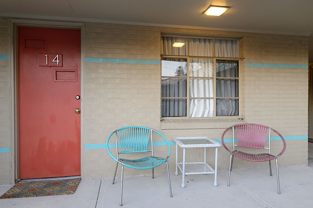 Room Entrance - The Sunset Motel in Brevard, NC