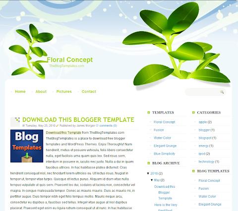 Floral Concept Blogger Theme