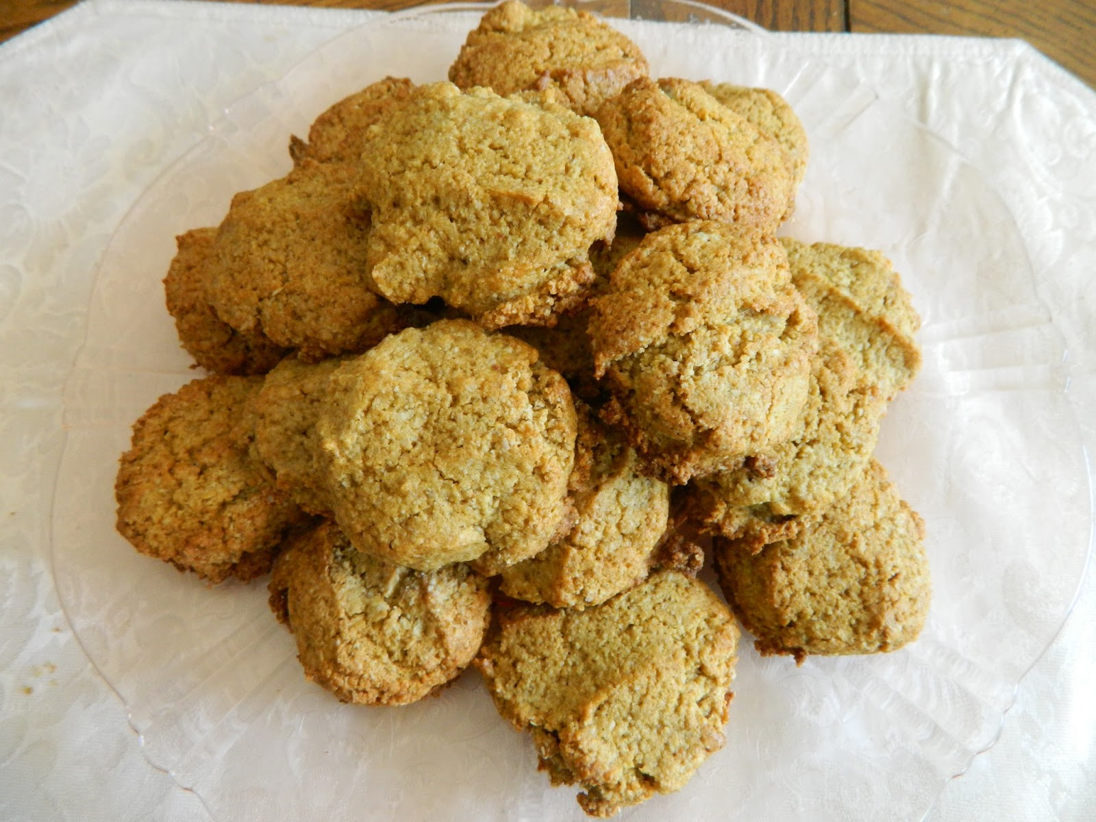 """Ginny's Low Carb Kitchen: """"OATMEAL"""" AND PEANUT BUTTER COOKIES, ..."""