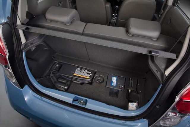 2015 New Chevrolet Model Spark EV back open view
