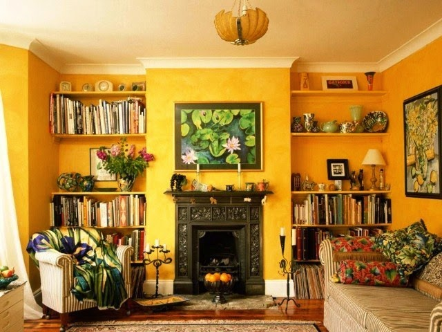 yellow wall paint decorating ideas