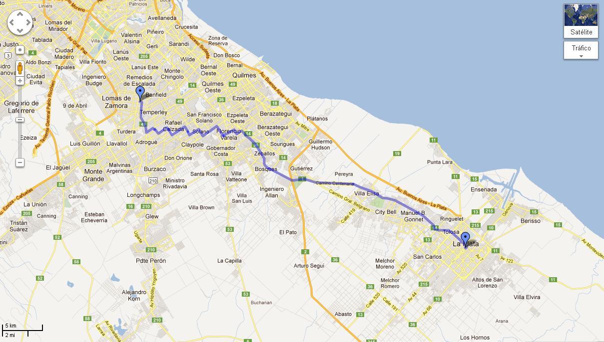 Mapa Google Caseros Buenos Aires