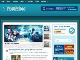 FactSaber Wordpress Template