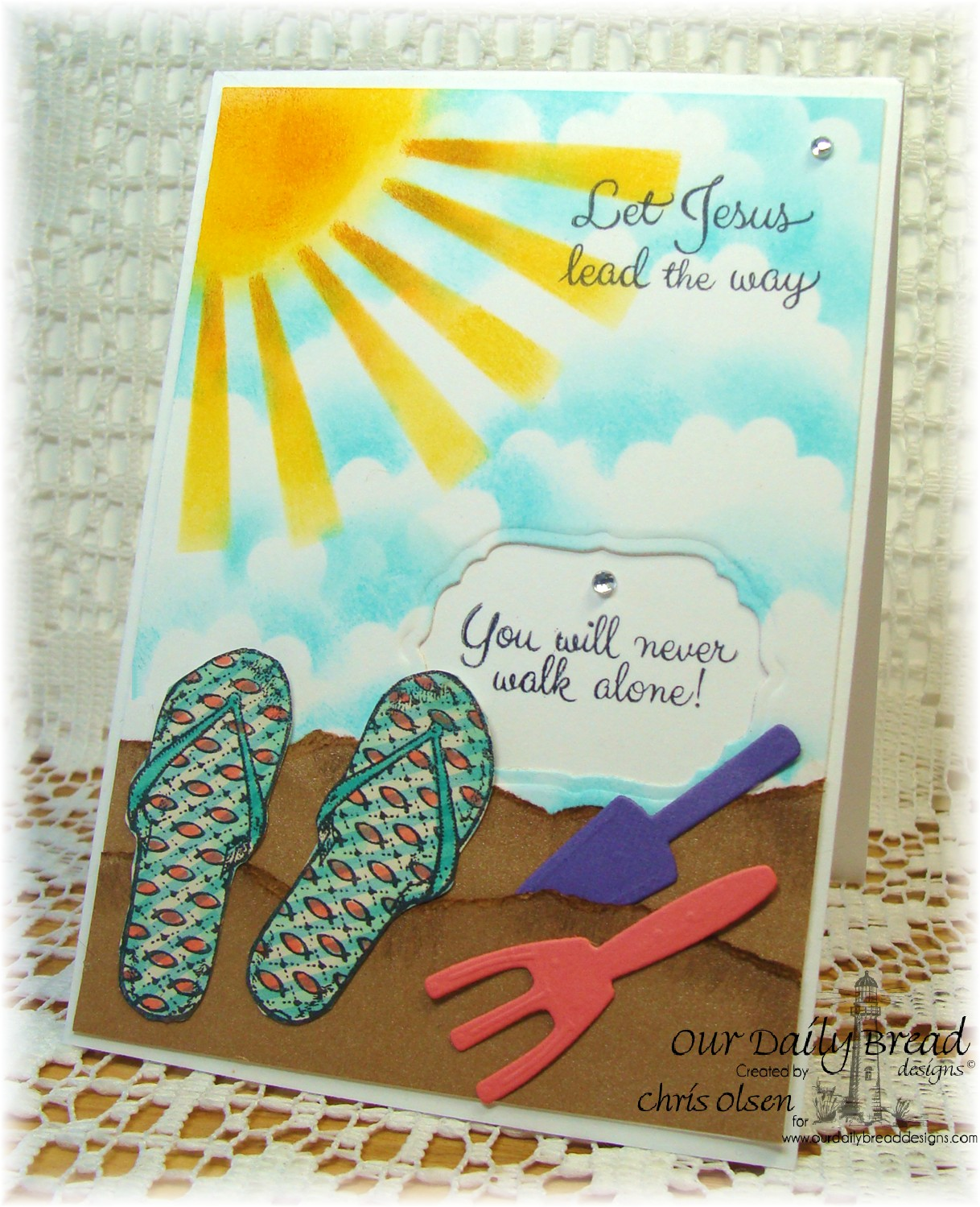 Stamps Our Daily Bread Designs Walk with Jesus, ODBD Custom Flip Flops Die, ODBD Custom Apron and Tools Die