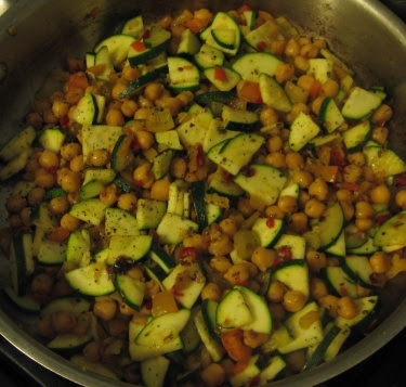 chickpeas and zucchini