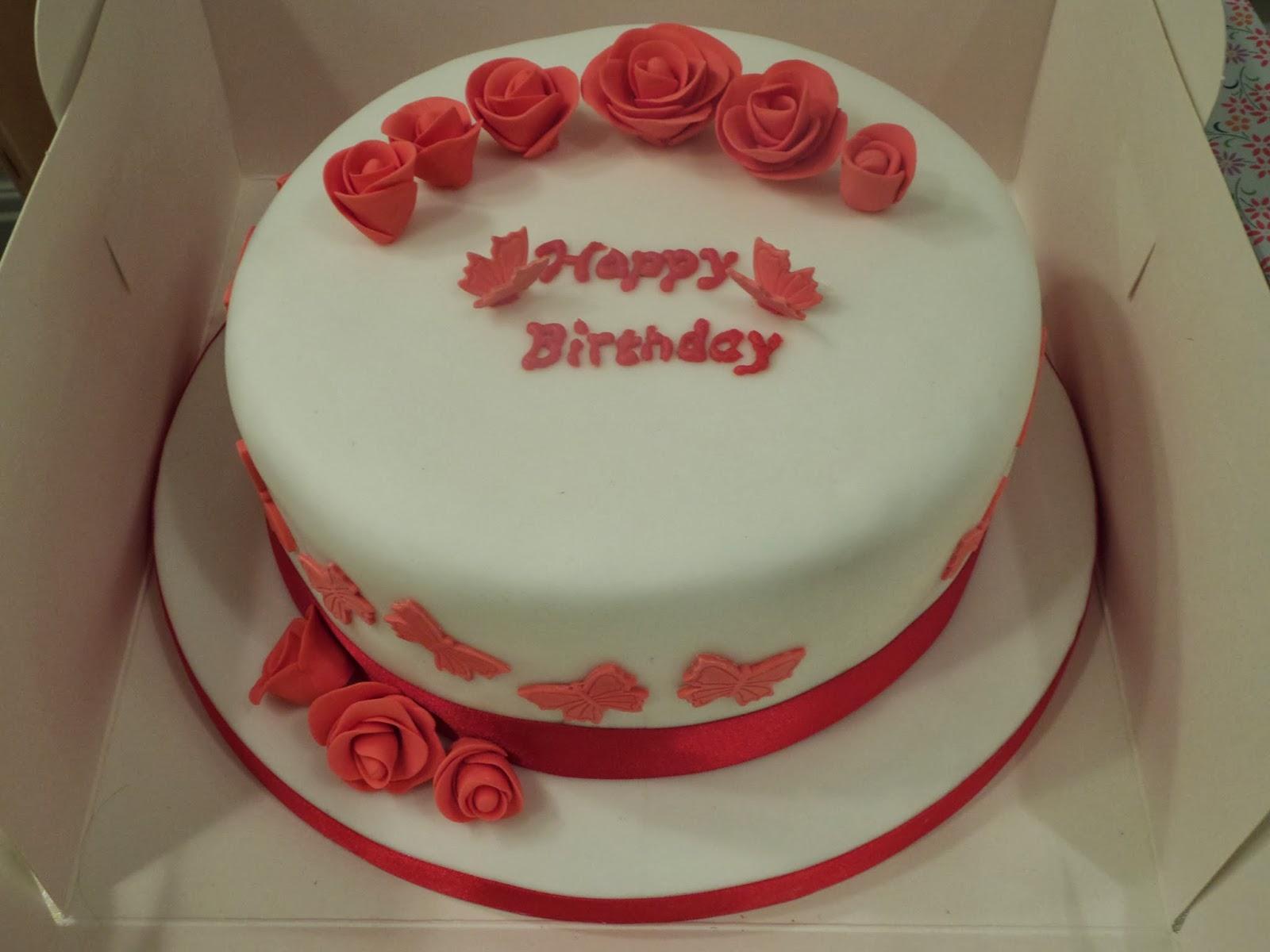 Cake Birth Red