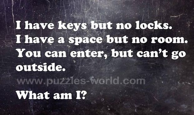 I have keys but no locks.