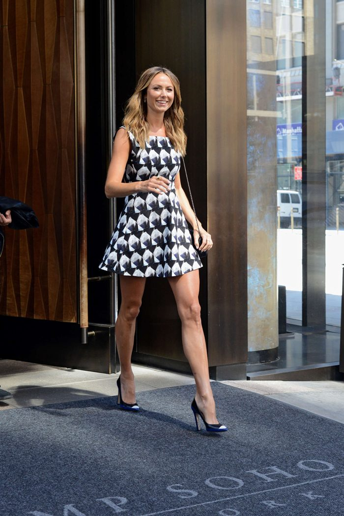 Stacy Keibler Leaving her Manhattan Hotel