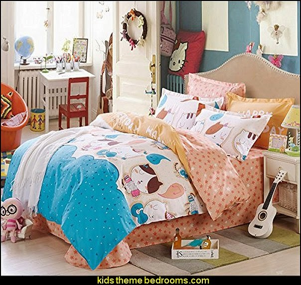 music theme bedding Happy Cat Cotton Bedding. Decorating theme bedrooms   Maries Manor  Music bedroom decorating