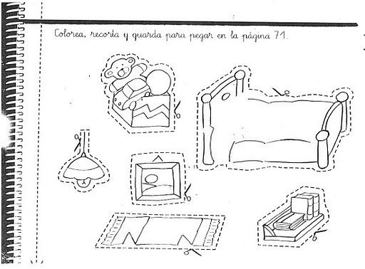 Fichas infantiles fichas pl sticas del dormitorio for Casas plasticas para ninos
