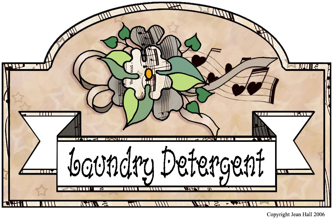Make A Label For Your Laundry Detergent