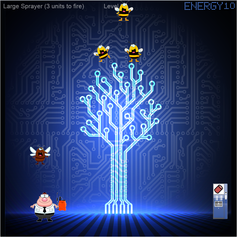 Fire ice david pallmann 39 s web cloud blog adventures in html5 debug hero game featuring - Html5 video background div ...