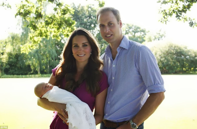 Catherine Middleton, Prince William and Prince George, the royal family