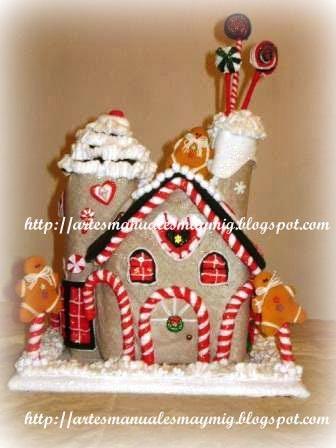 Maymig artes manuales curso casita de caramelos - Casitas de navidad ...