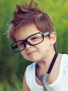 Cute Child With Specs Profile Picture