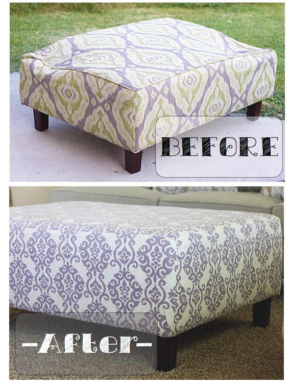 do it yourself divas: DIY: Fixing A Broken Ottoman