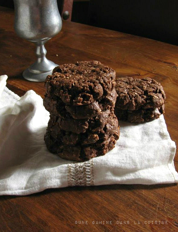 double chocolate coconut cookies |une gamine dans la cuisine