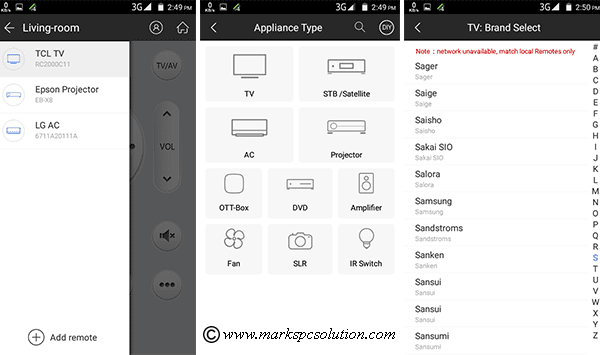 Android Phone Remote Control Settings