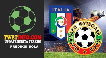 Prediksi Score Italia vs Bulgaria 07-09-2015