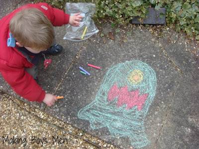 chalking with kids