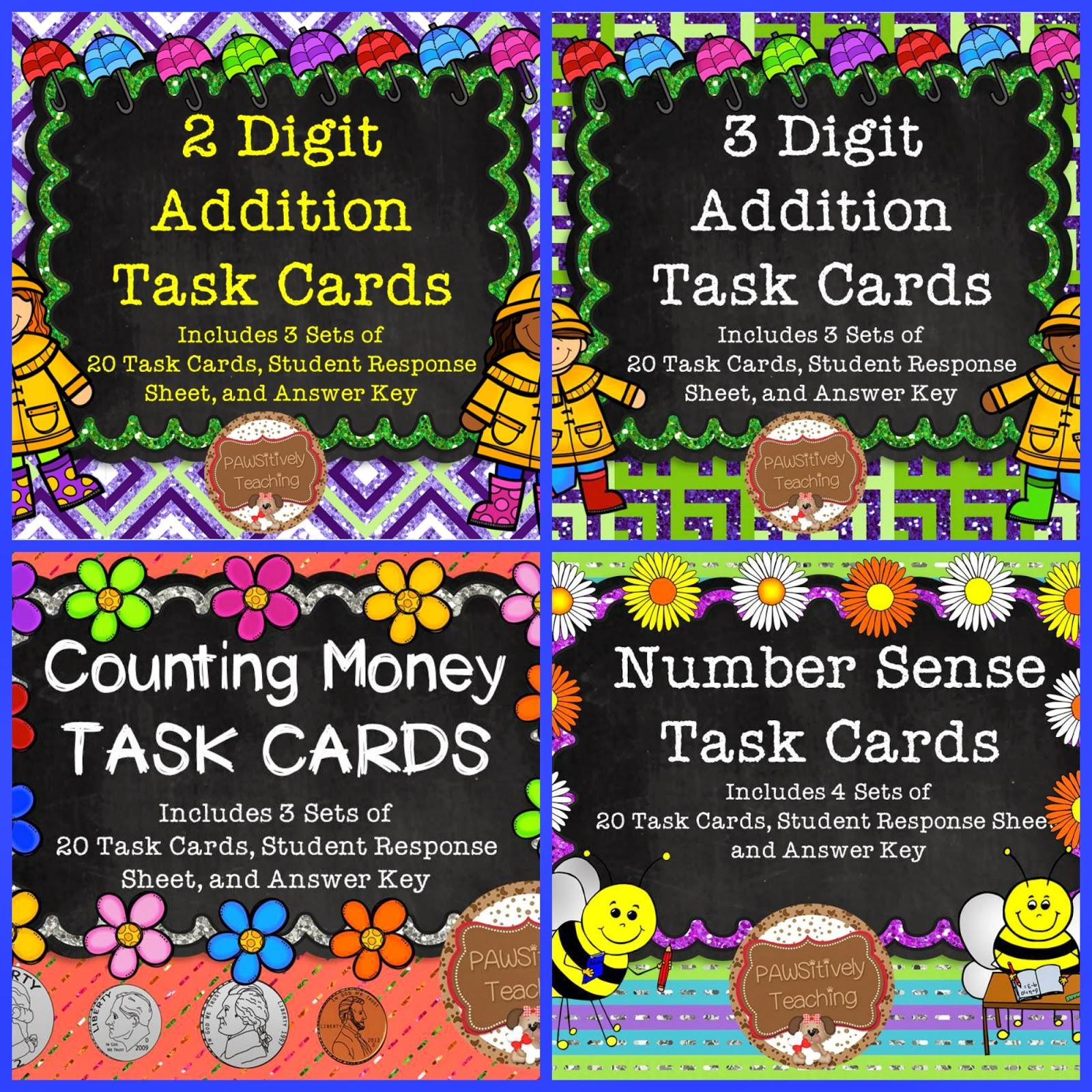http://www.teacherspayteachers.com/Product/Math-Task-Card-Bundle-Spring-Themed-for-the-Primary-Grades-1133961