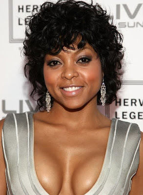 Taraji P Henson Crystal Chandelier Earrings