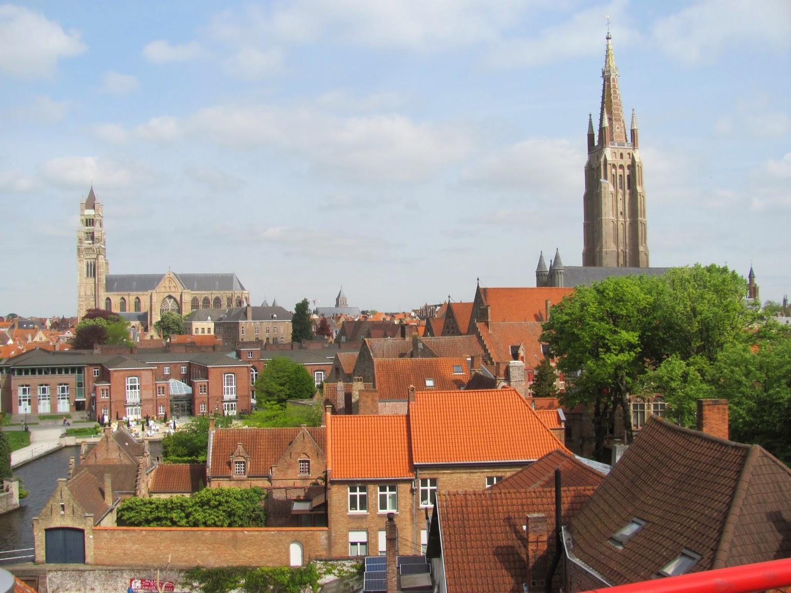 Church Steeples Bruges, Belgium