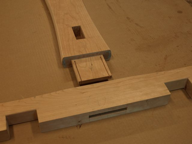 The Tenons Are Slotted To Accept Long Wedges Which Will Tighten The Joint  After Assembly. The Mortice Or Hole Is Wider At The Top To Allow The Wedges  To ...