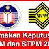 Tarikh Semakan Keputusan SPM dan STPM 2012 secara Online dan SMS
