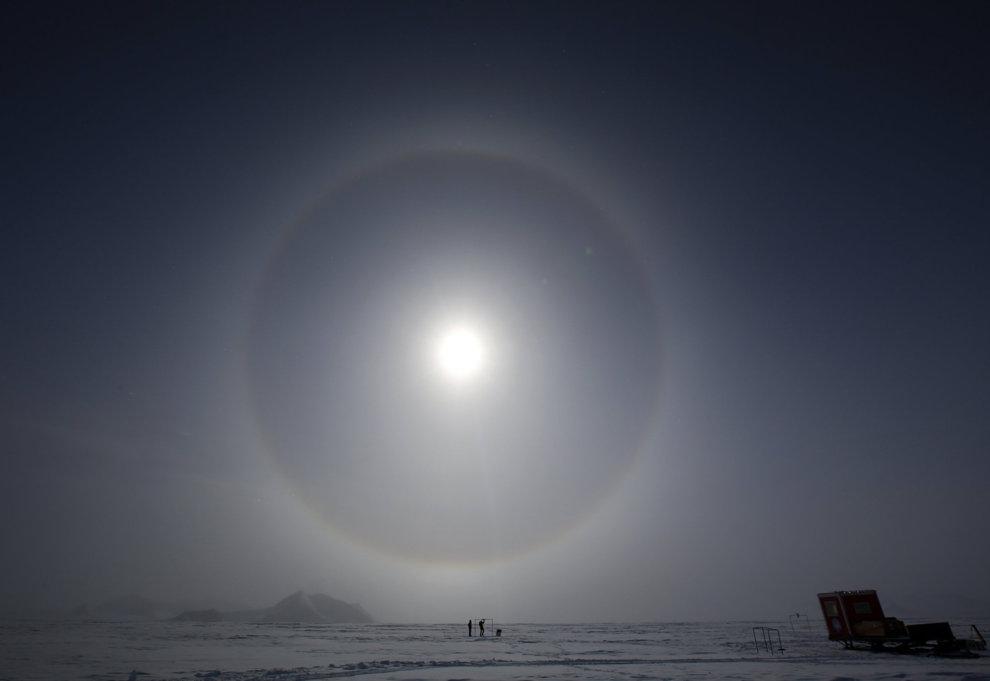 El agujero en la capa de ozono de la Antártida, más grande que nunca.